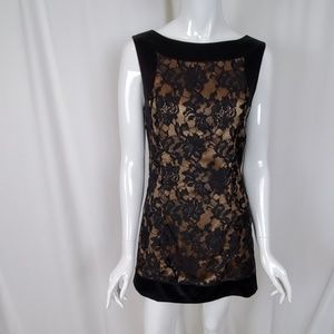 Bebe Black Lace Sleeveless Sheath Mini Dress